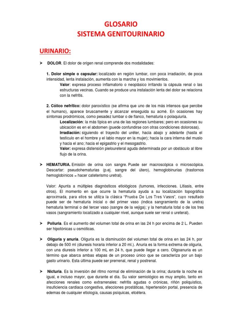 procesos inflamatorios uretro-prostáticos agudos