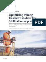 Optimizing Mining Feasibility Studies the 100 Billion Opportunity