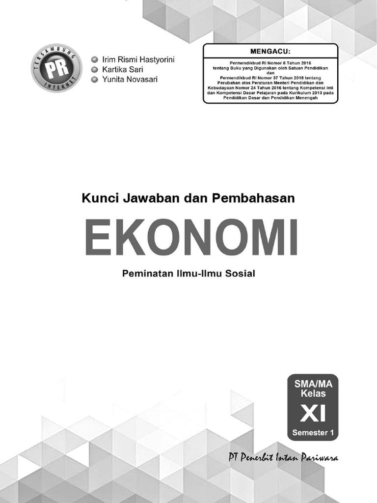 01 Kunci Pr Ekonomi 11a Edisi 2019 Pdf