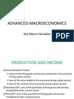 1 Adv Macro Key Macroeconomic Variables