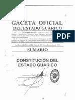 CONSTITUCIÓN DEL ESTADO BOLIVARIANO DE GUARICO 2015