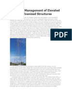 Corrosion Management of Elevated Lattice Galvanized Structures