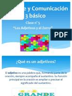 3 Básico Clase 5 U.3 Adjetivos