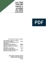 Revisión Operacional Cargadora 744H Funcionamiento y Pruebas