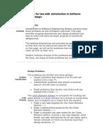 Software design routines