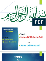 State of Water in Soil