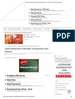 Latest Mathematics Reviewer_ 30 Questions With Answers - LET EXAM - Questions & Answers
