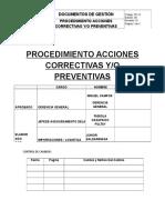 PR-12 Proc. Acciones Correctivas