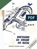 Breviario Da Cidade Do Natal - Manoel Onofre Júnior