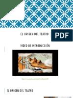 El Origen Del Teatro