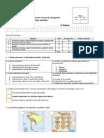 Evaluación HIstoria Mapas y Planos