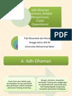 Adh-dhaman, Kafalah dan Ji'alah.pptx