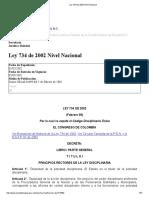 Ley 734 de 2002 Nivel Nacional Codigo Unico Disciplinario.pdf