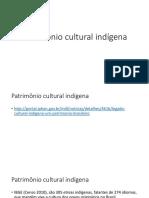 Slides Patrimônio Indígena