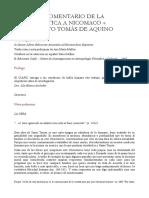 Aquino, Tomás - Comentario a La Etica a Nicomaco