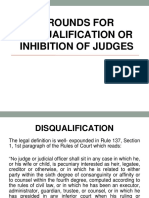 Grounds for Disqualification or Inhibition of Judges