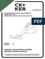 Manual Black + decker aspiradora