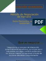 Metodo Harvard de Negociacion y Su Aplicacion a Los Estudios Comparados