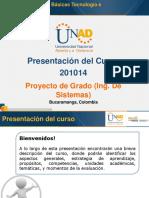 Presentación Del Curso Proyecto de Grado (Ing. de Sistemas)