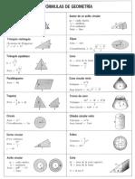 Fórmulas Geométricas y Trigonométricas
