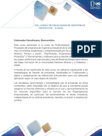 Presentación Del Curso Metodologías de Gestión de Proyectos