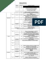 cronograma 2019 segundo semestre