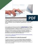 Actividad 5 Gd La Implementación de Buenos Sistemas de Gestión Documental