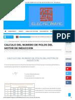 Calculo Del Numero de Polos Del Motor de Induccion - Automatizacion