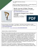 Therapeutic Songwriting in Music Therapy Felicity Baker , Tony Wigram , David Stott, Katrina McFerran