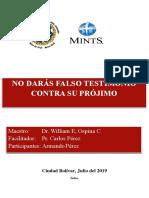 I- No Darás Falso Testimonio Contra Su Projimo2019