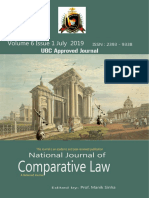 National Journal of Comparative Law(NJCL) vol 6 issue 1 July 2019