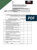 Instrumento de Calificación Parcial 1