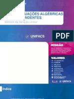 Aula 08 - EQUAÇÕES ALGÉBRICAS E TRANSCENDENTES (MÉTODO DA ITERAÇÃO LINEAR).pptx