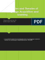 1 Principles and Theories of Language Acquisition and Learning