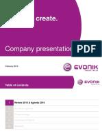 160111_evonik Company Presentation (February 2016)