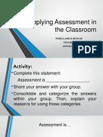 Applying Assessment