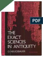 Otto Eduard Neugebauer The Exact Sciences in Antiquity