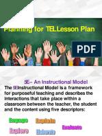 5E Model for Leson Plan Preparation