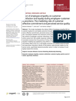 Effect of Employee Empathy on Customer Satisfaction and Loyalty During Employee Customer Interactions the Mediating Role of Customer Affective