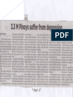 Philippine Star, Aug. 29, 2019, 3.3 M Pinoys suffer from depression.pdf