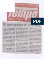 Tempo, Aug. 29, 2019, No implementation of UHC in 2020.pdf