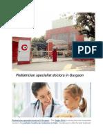 Pediatrician Specialist Doctors in Gurgaon