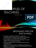 Principles of Teaching Converted