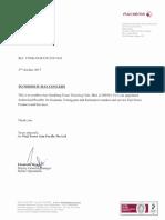Fuji Xerox Authorize Dealer Letter