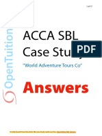 ACCA SBL Case Study World Adventure Tours Co Answers