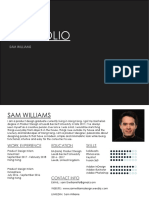 design portfolio sam williams 2019