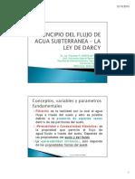 Principio Del Flujo Subterraneo - La Ley de Darcy