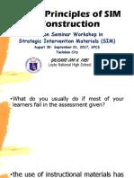 Basic Principles of SIM Construction