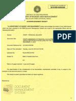 Receiving of DBM - FARs 2018 (URS File-4Q)