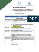 DiMOI Reunion Consultative Programme Provisoire
